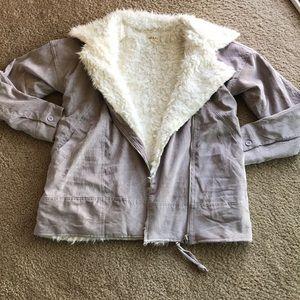 Fashion on Earth corduroy faux fur coat S